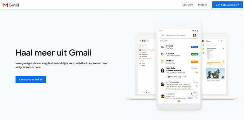 E-mailadres aanmaken bij Gmail