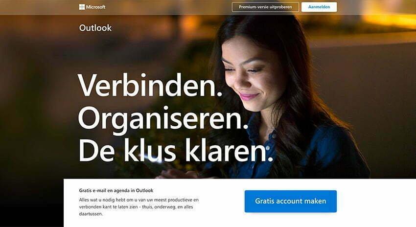 E-mailadres aanmaken bij Outlook